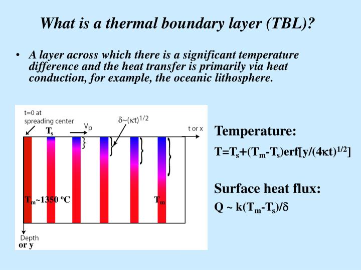 What is a thermal boundary layer tbl