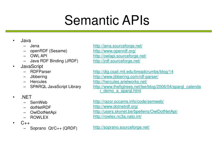 Semantic apis1