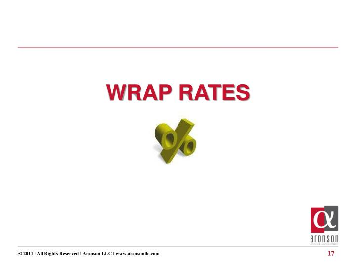 WRAP RATES