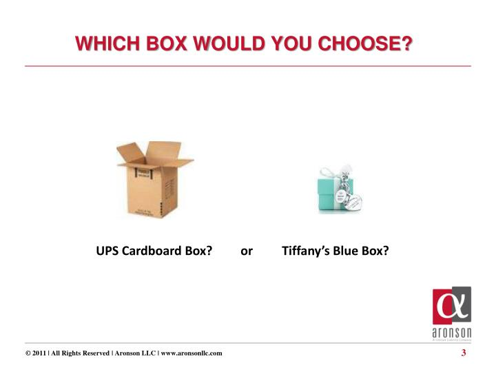WHICH BOX WOULD YOU CHOOSE?