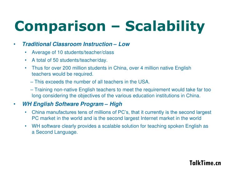 Comparison – Scalability