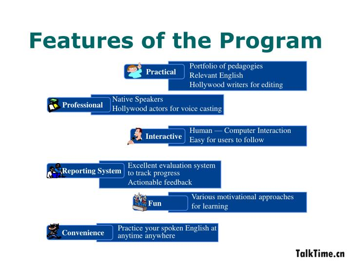 Features of the Program