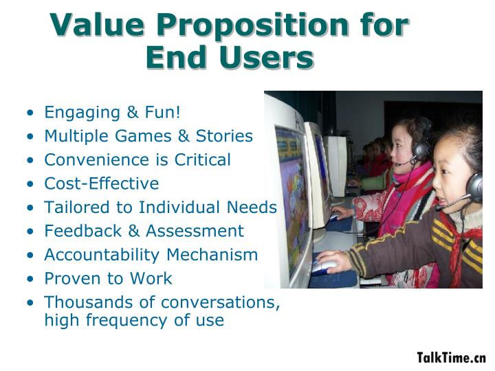 Value Proposition for