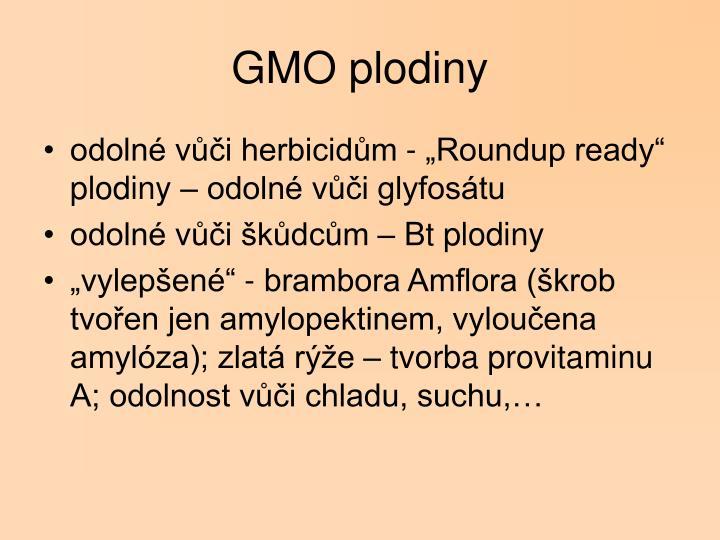 GMO plodiny