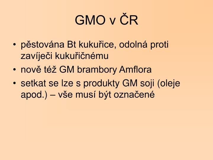 GMO v ČR