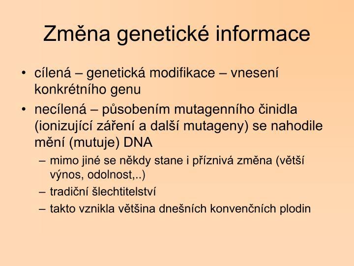 Změna genetické informace