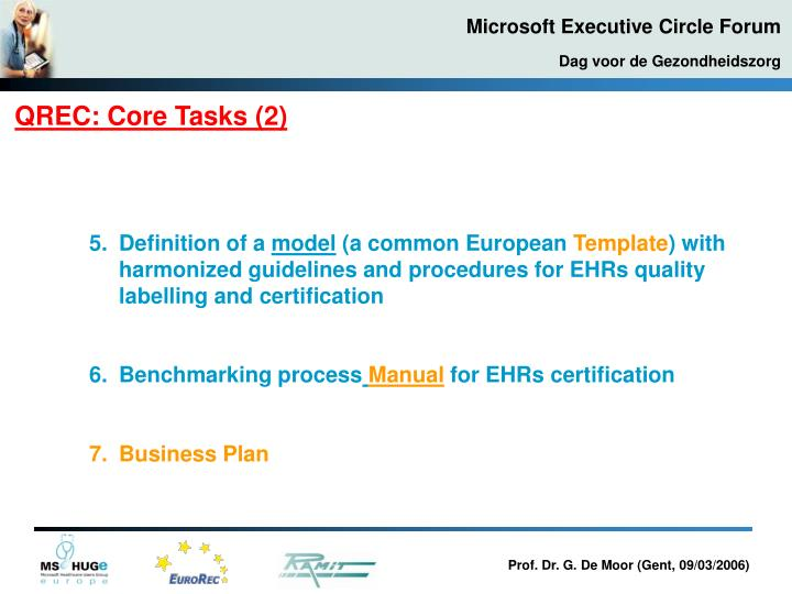 QREC: Core Tasks (2)