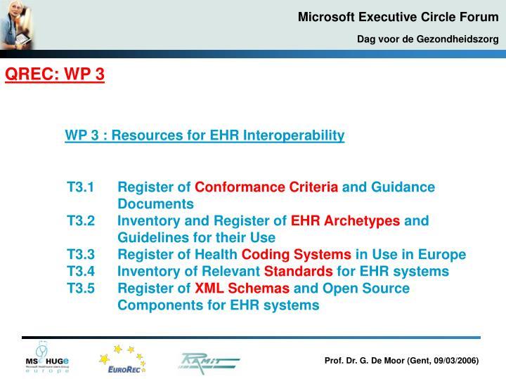 QREC: WP 3
