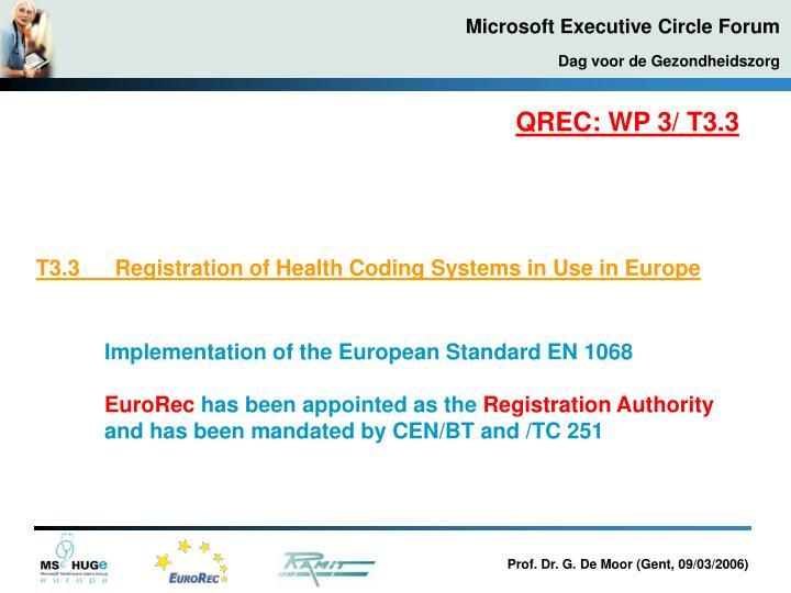 QREC: WP 3/ T3.3