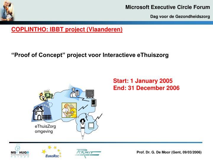 COPLINTHO: IBBT project (Vlaanderen)
