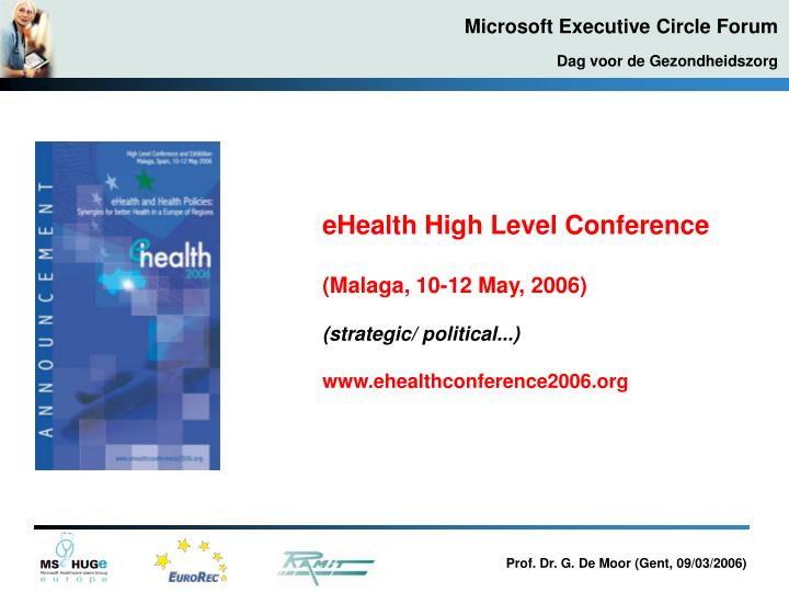 eHealth High Level Conference