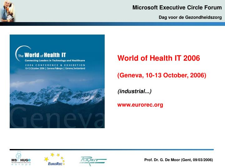 World of Health IT 2006