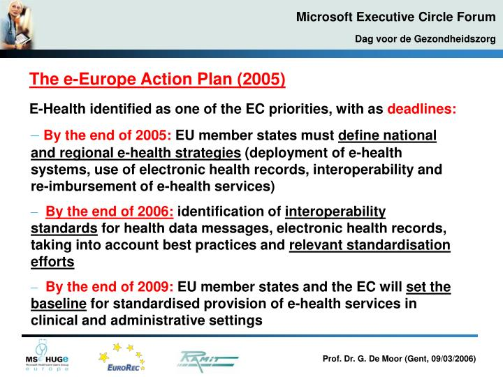 The e-Europe Action Plan (2005)