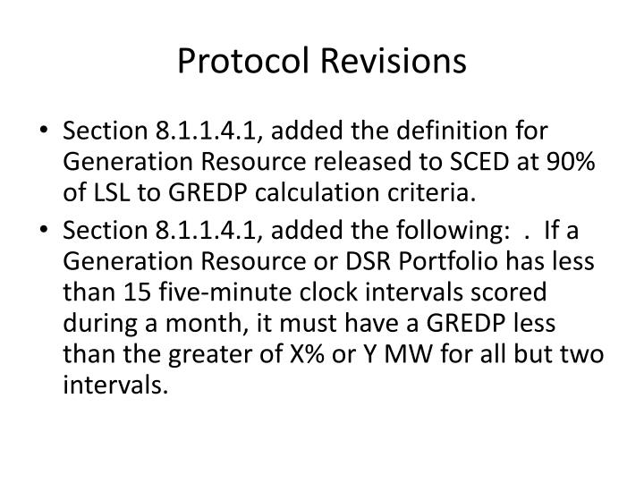 Protocol Revisions
