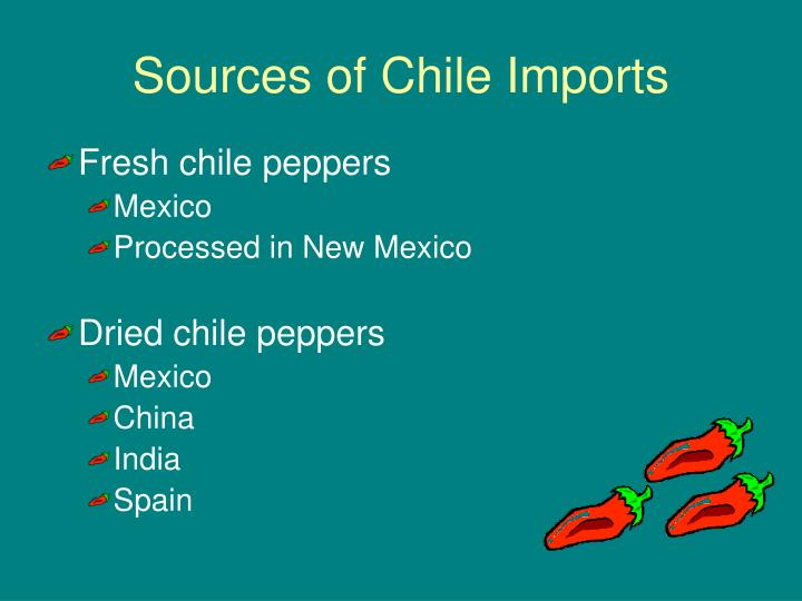 Sources of Chile Imports