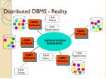 distributed dbms reality