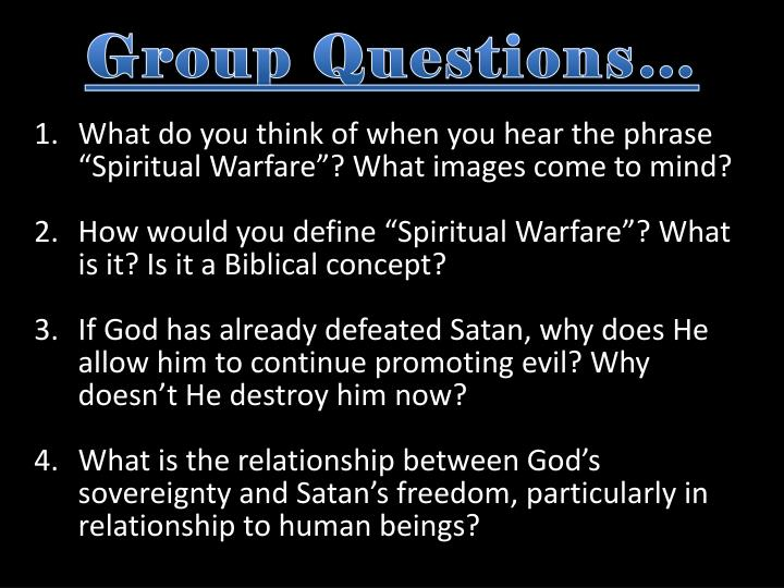 Group Questions…
