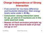 charge independence of strong interaction