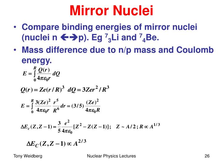Mirror Nuclei