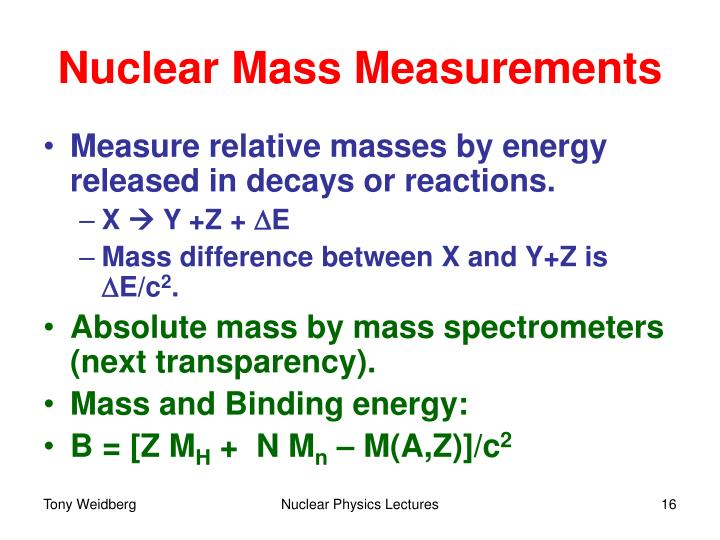 Nuclear Mass Measurements