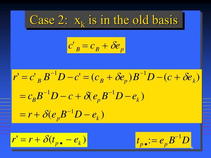 Case 2:  x