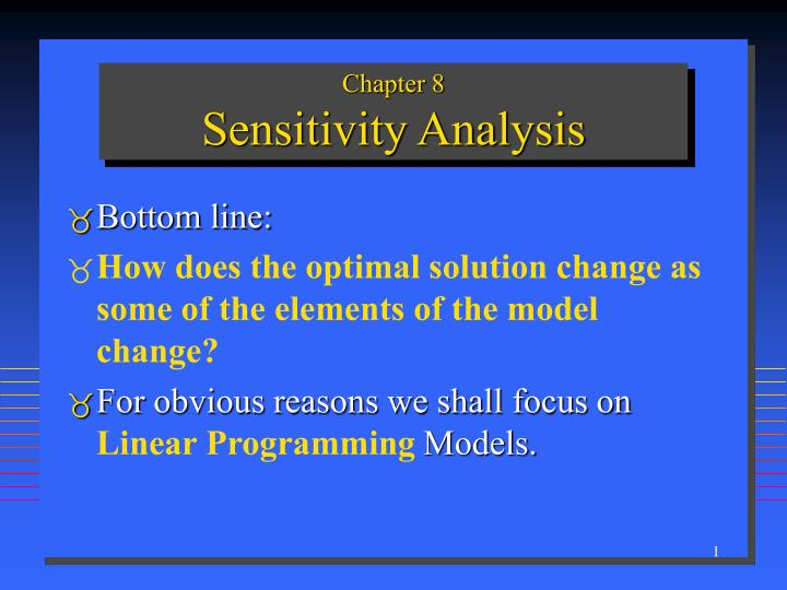 Chapter 8 sensitivity analysis