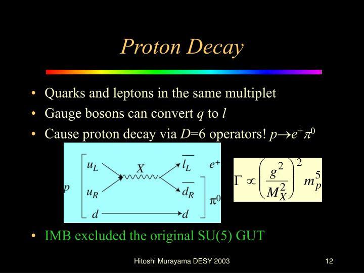Proton Decay