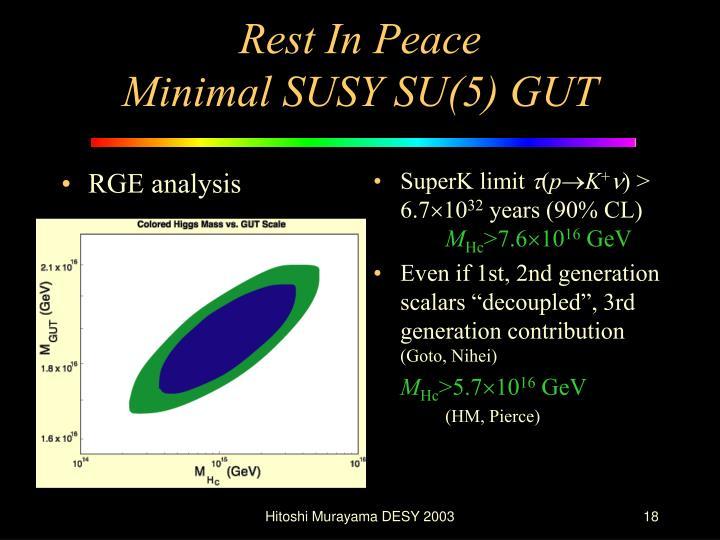 RGE analysis