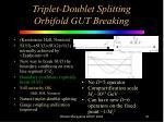 triplet doublet splitting orbifold gut breaking
