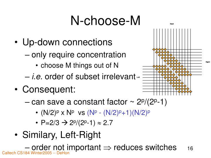 N-choose-M
