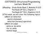 coit29222 structured programming lecture week 06