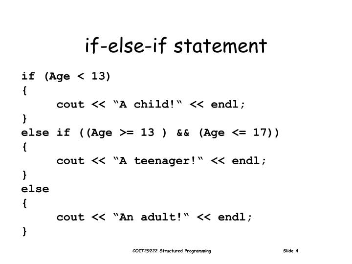 if-else-if statement