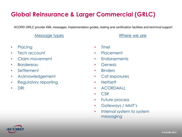 Global Reinsurance & Larger Commercial (GRLC)