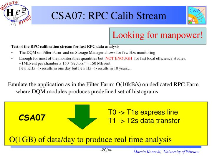 CSA07: RPC Calib Stream