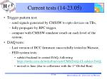 current tests 14 23 05