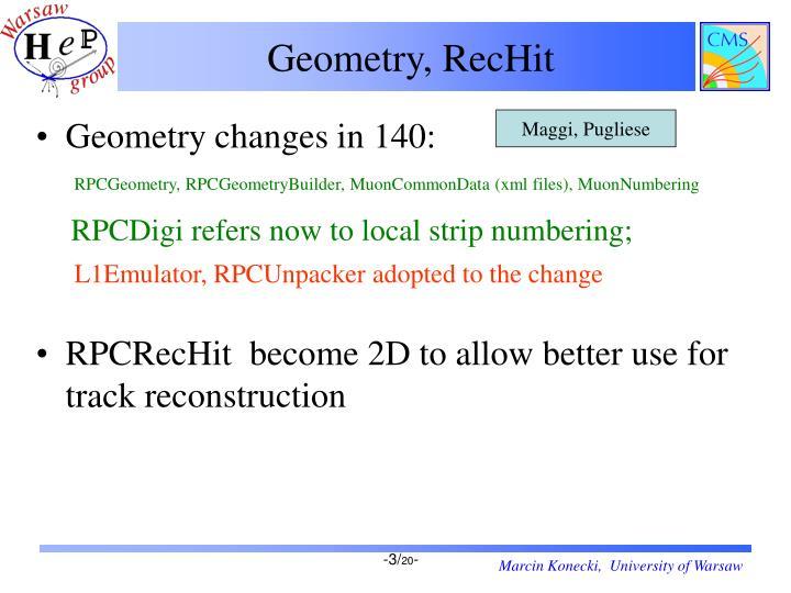 Geometry, RecHit