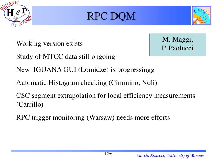 RPC DQM