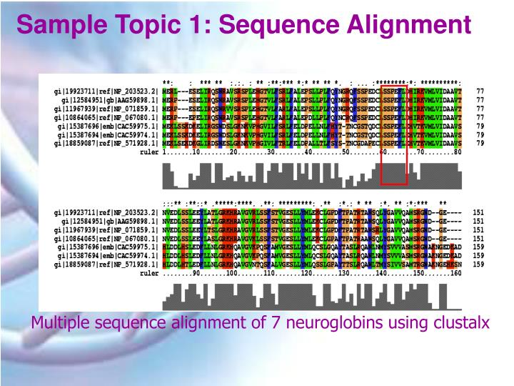 Sample Topic 1: Sequence Alignment