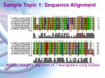 sample topic 1 sequence alignment