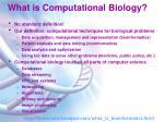 what is computational biology