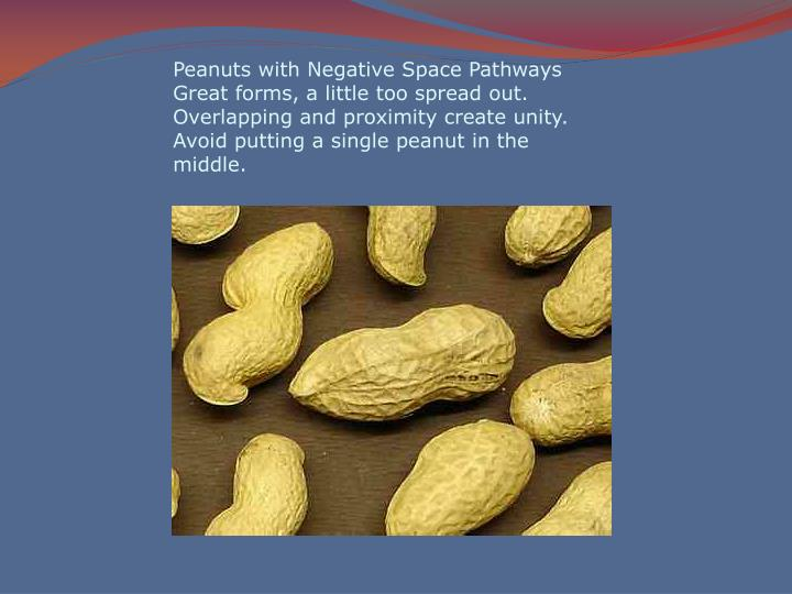 Peanuts with Negative Space Pathways