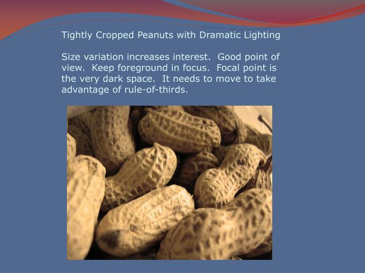 Tightly Cropped Peanuts with Dramatic Lighting