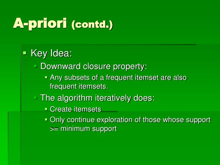 A-priori