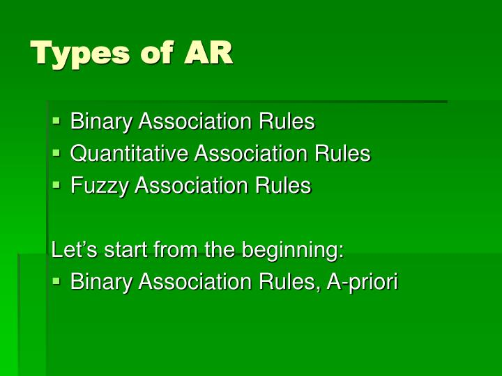 Types of AR