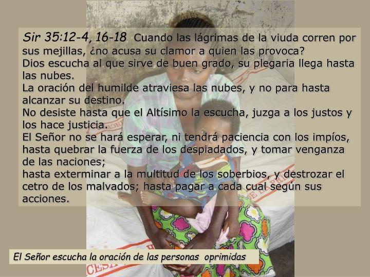 Sir 35:12-4, 16-18