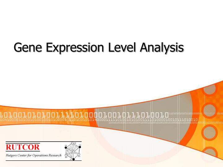Gene Expression Level Analysis