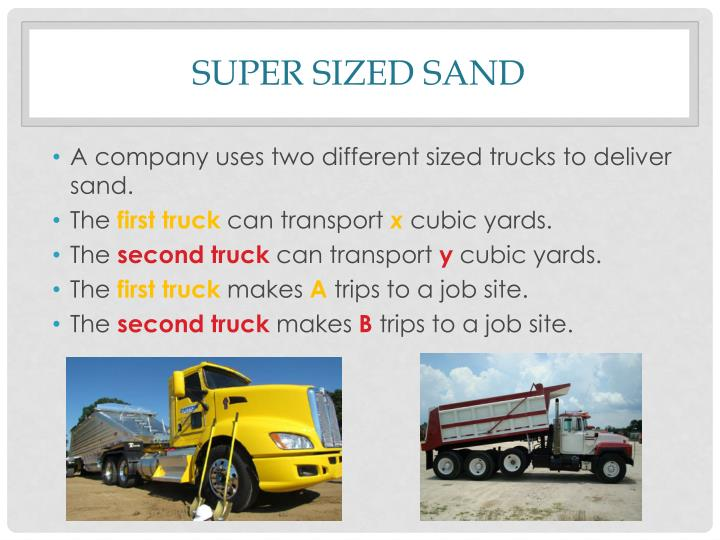 Super Sized Sand