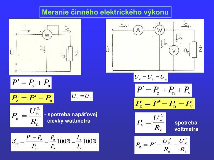 Meranie činného elektrického výkonu