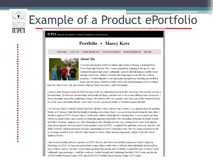 Example of a Product ePortfolio
