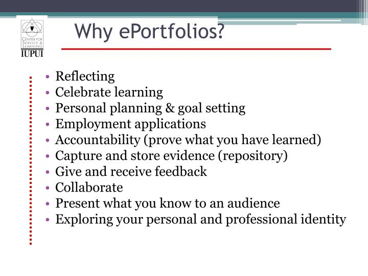 Why ePortfolios?